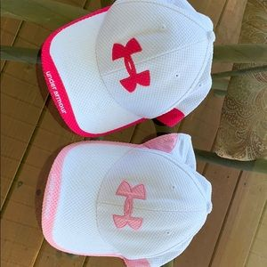(2) Under Armour Hats for U -  Pink N Bright Pink